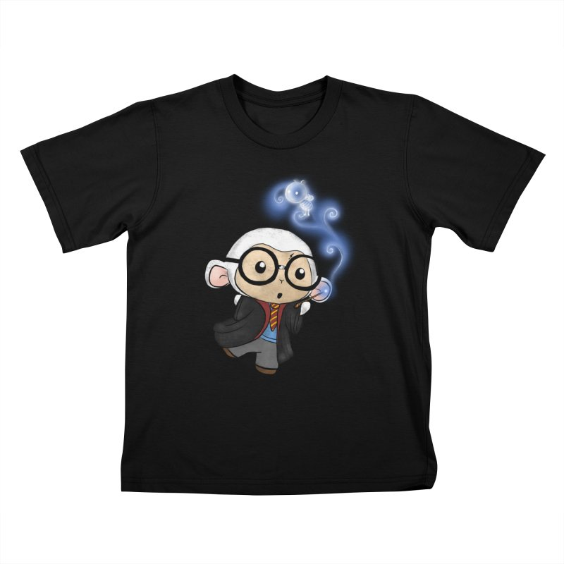 Lambie Potter and his Patronus Kids T-Shirt by Dino & Panda Inc Artist Shop