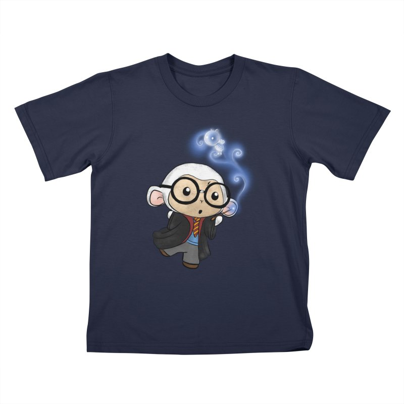 Lambie Potter and his Patronus Kids T-Shirt by Dino & Panda Artist Shop