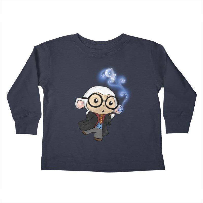 Lambie Potter and his Patronus Kids Toddler Longsleeve T-Shirt by Dino & Panda Artist Shop