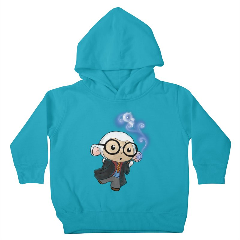 Lambie Potter and his Patronus Kids Toddler Pullover Hoody by Dino & Panda Inc Artist Shop