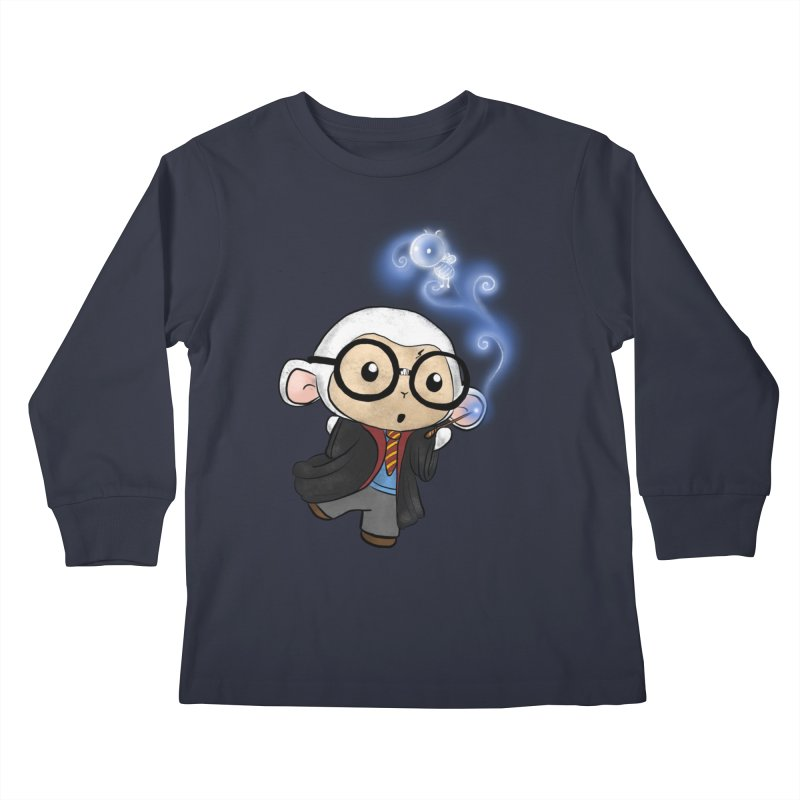 Lambie Potter and his Patronus Kids Longsleeve T-Shirt by Dino & Panda Artist Shop