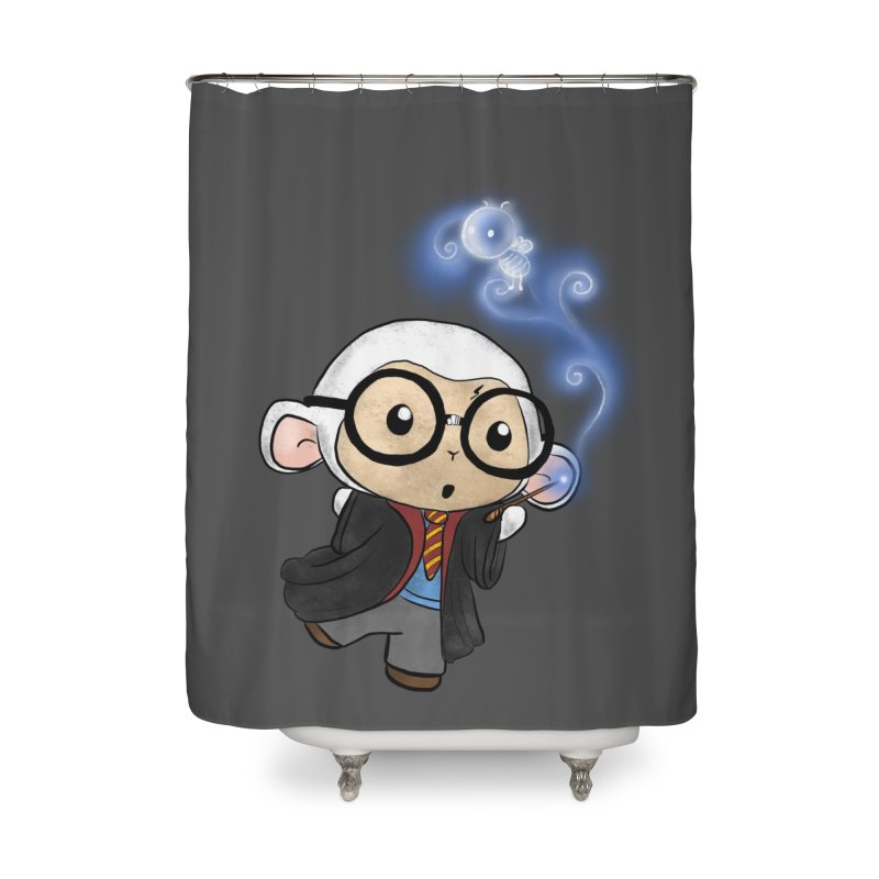 Lambie Potter and his Patronus Home Shower Curtain by Dino & Panda Artist Shop