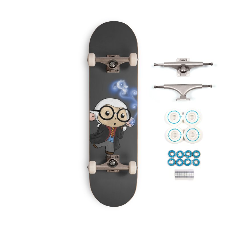 Lambie Potter and his Patronus Accessories Skateboard by Dino & Panda Artist Shop