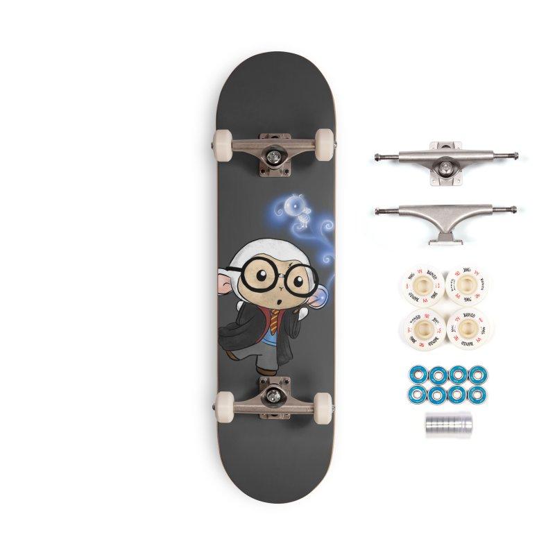 Lambie Potter and his Patronus Accessories Complete - Premium Skateboard by Dino & Panda Inc Artist Shop
