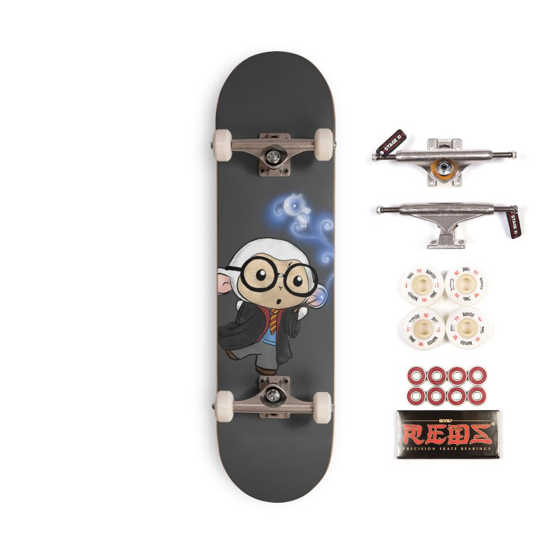 Lambie Potter and his Patronus Accessories Complete - Pro Skateboard by Dino & Panda Inc Artist Shop