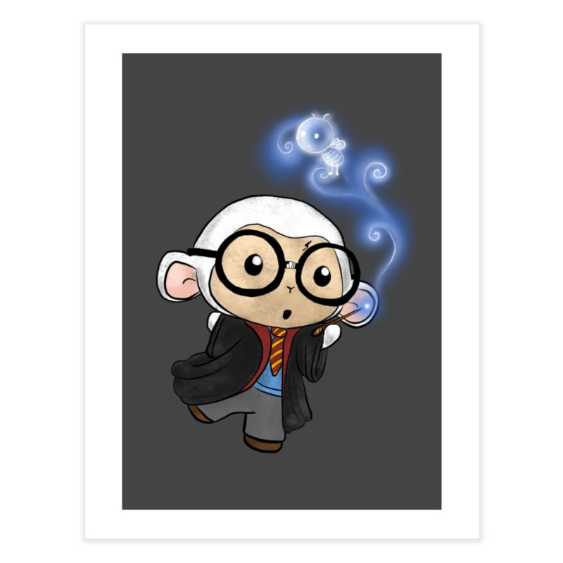 Lambie Potter and his Patronus Home Fine Art Print by Dino & Panda Inc Artist Shop