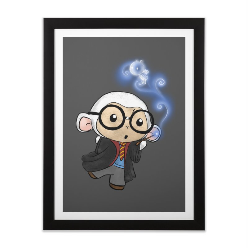Lambie Potter and his Patronus Home Framed Fine Art Print by Dino & Panda Artist Shop