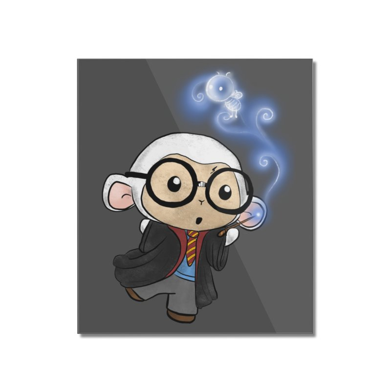 Lambie Potter and his Patronus Home Mounted Acrylic Print by Dino & Panda Artist Shop
