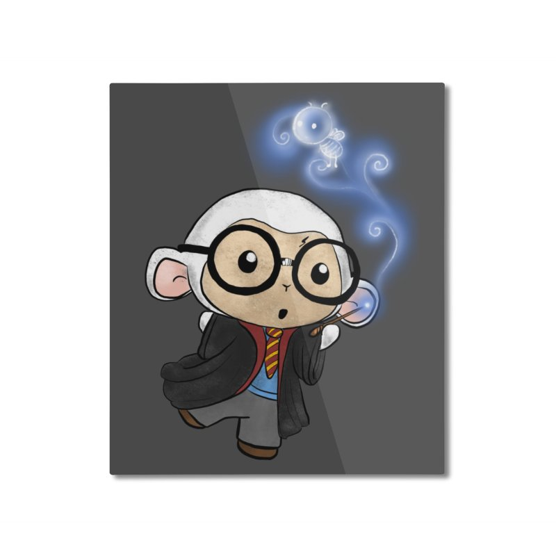 Lambie Potter and his Patronus Home Mounted Aluminum Print by Dino & Panda Inc Artist Shop