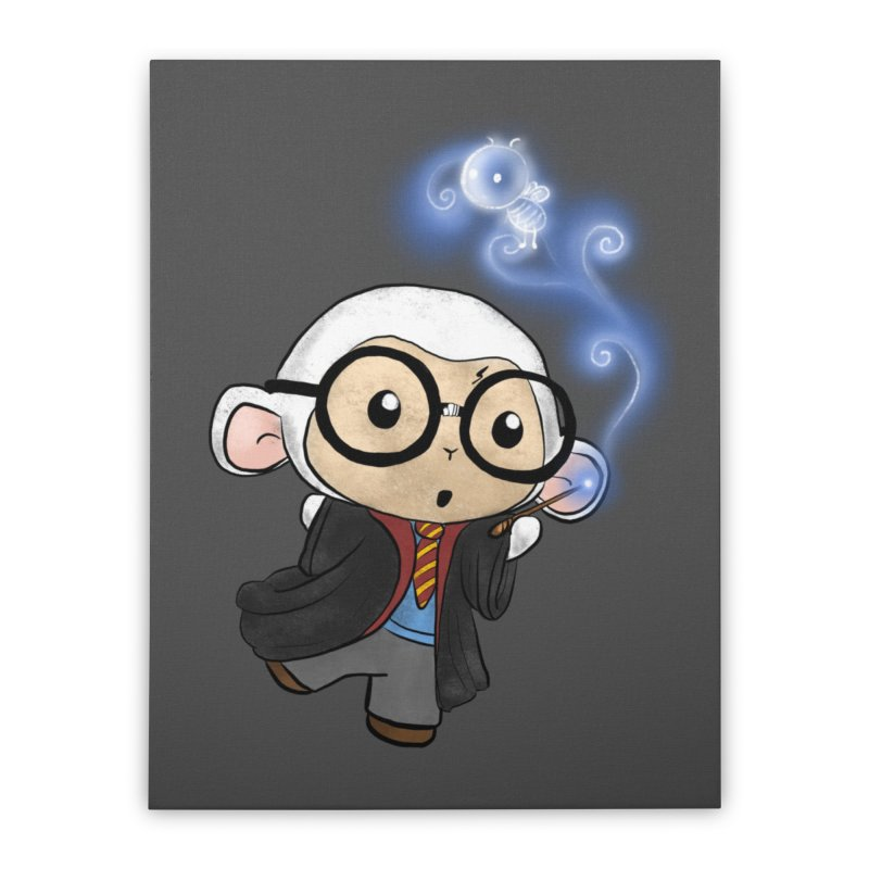 Lambie Potter and his Patronus Home Stretched Canvas by Dino & Panda Artist Shop