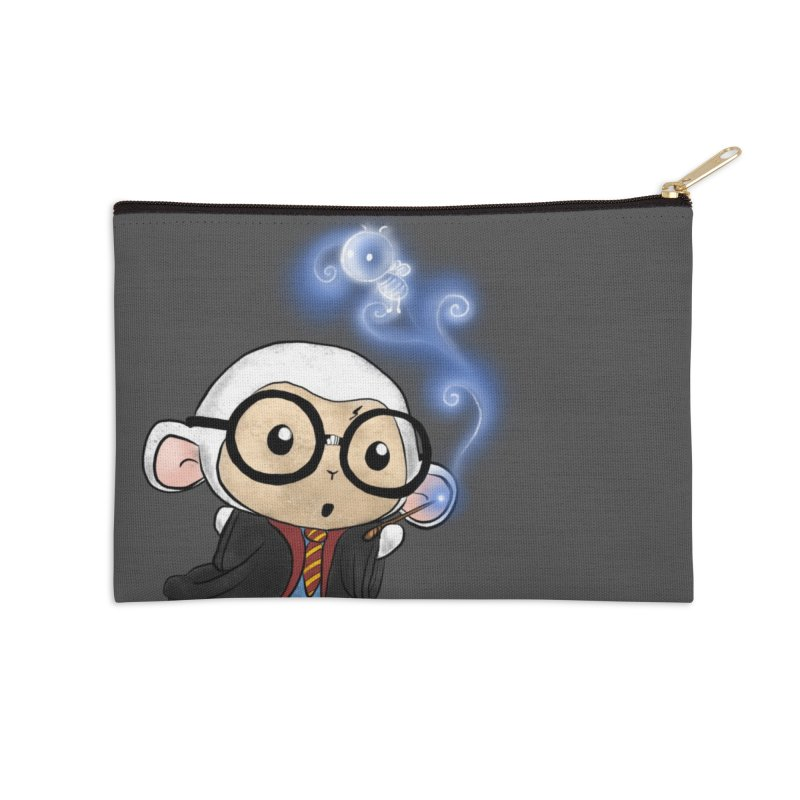 Lambie Potter and his Patronus Accessories Zip Pouch by Dino & Panda Inc Artist Shop
