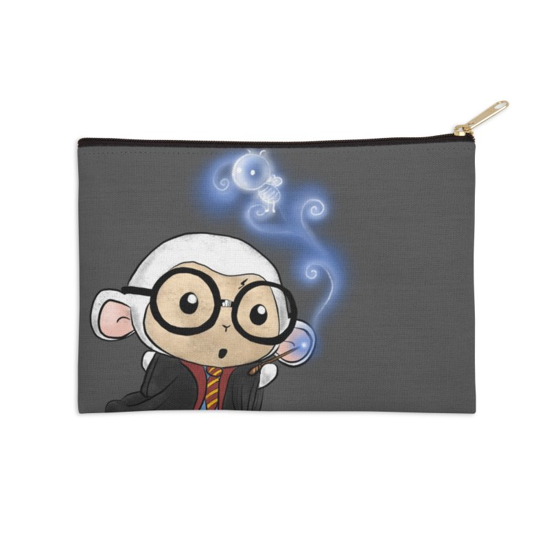 Lambie Potter and his Patronus Accessories Zip Pouch by Dino & Panda Artist Shop