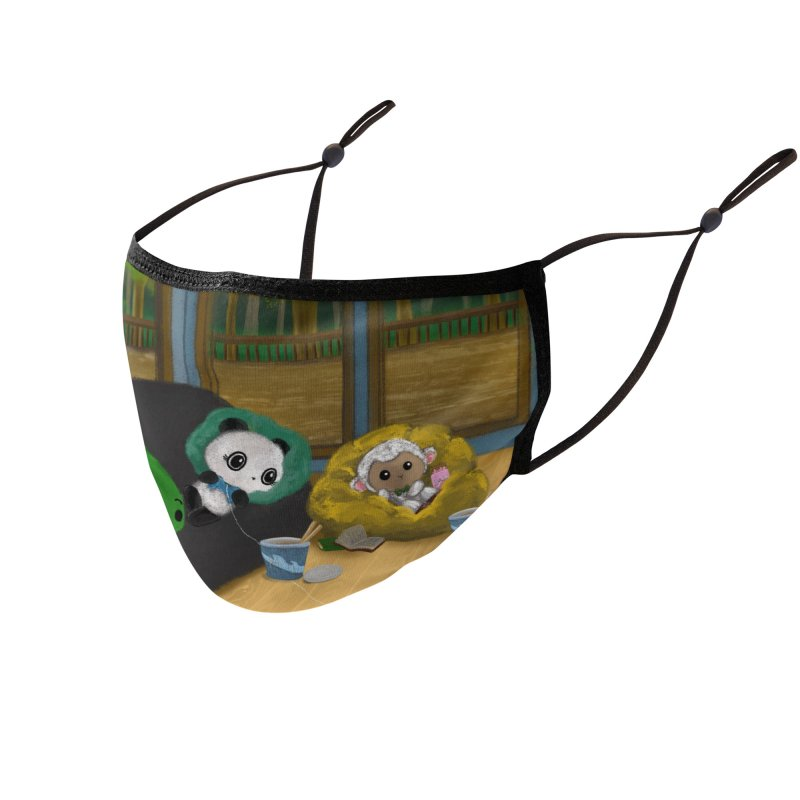 Dino, Panda, and Lambie Gamers Accessories Face Mask by Dino & Panda Artist Shop