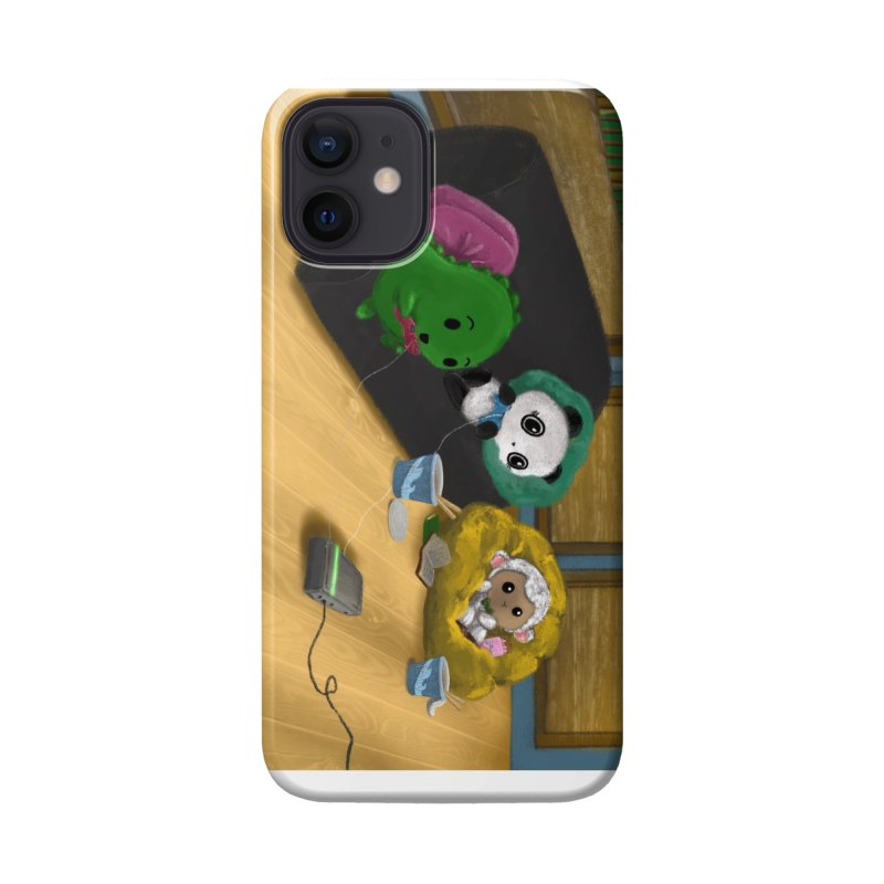 Dino, Panda, and Lambie Gamers Accessories Phone Case by Dino & Panda Artist Shop