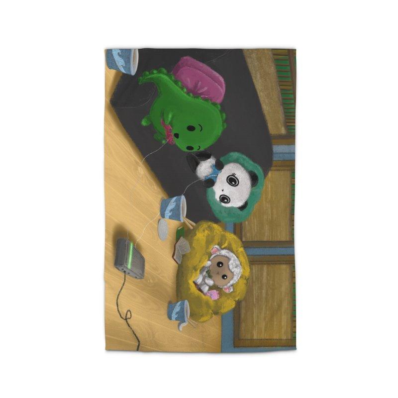 Dino, Panda, and Lambie Gamers Home Rug by Dino & Panda Artist Shop