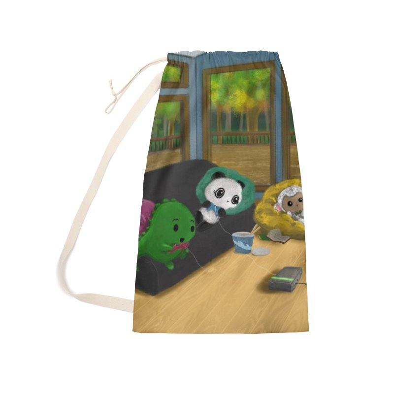 Dino, Panda, and Lambie Gamers Accessories Bag by Dino & Panda Artist Shop