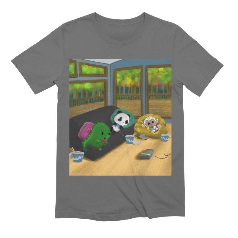 Dino, Panda, and Lambie Gamers Men's T-Shirt by Dino & Panda Artist Shop