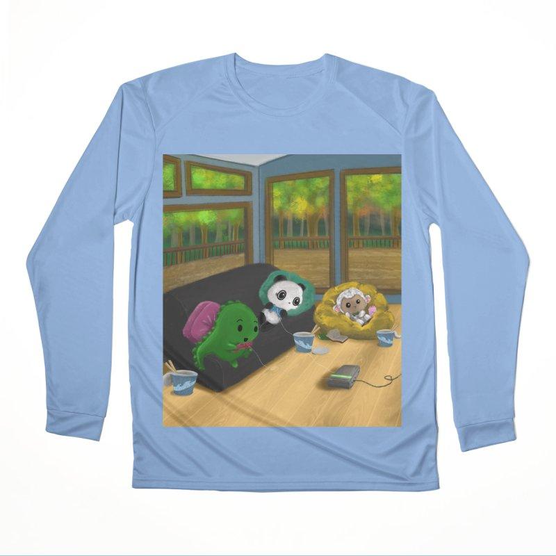 Dino, Panda, and Lambie Gamers Men's Longsleeve T-Shirt by Dino & Panda Artist Shop