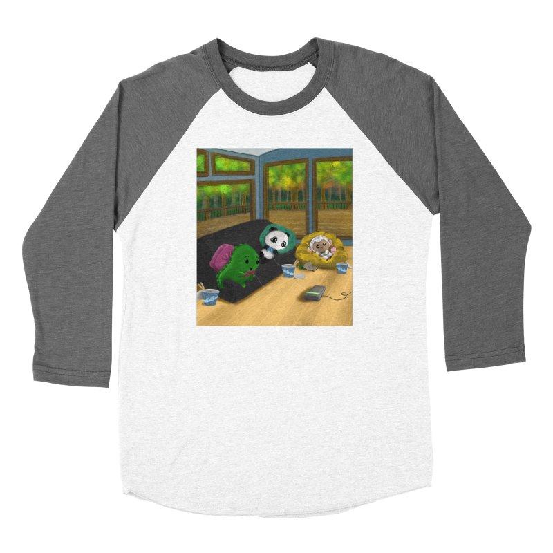 Dino, Panda, and Lambie Gamers Women's Longsleeve T-Shirt by Dino & Panda Artist Shop