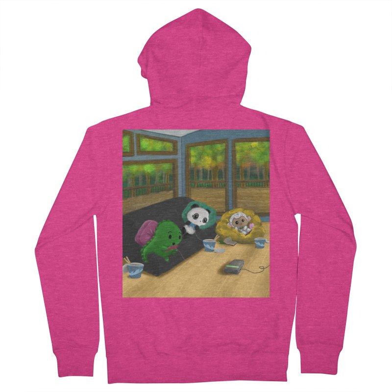 Dino, Panda, and Lambie Gamers Women's Zip-Up Hoody by Dino & Panda Artist Shop