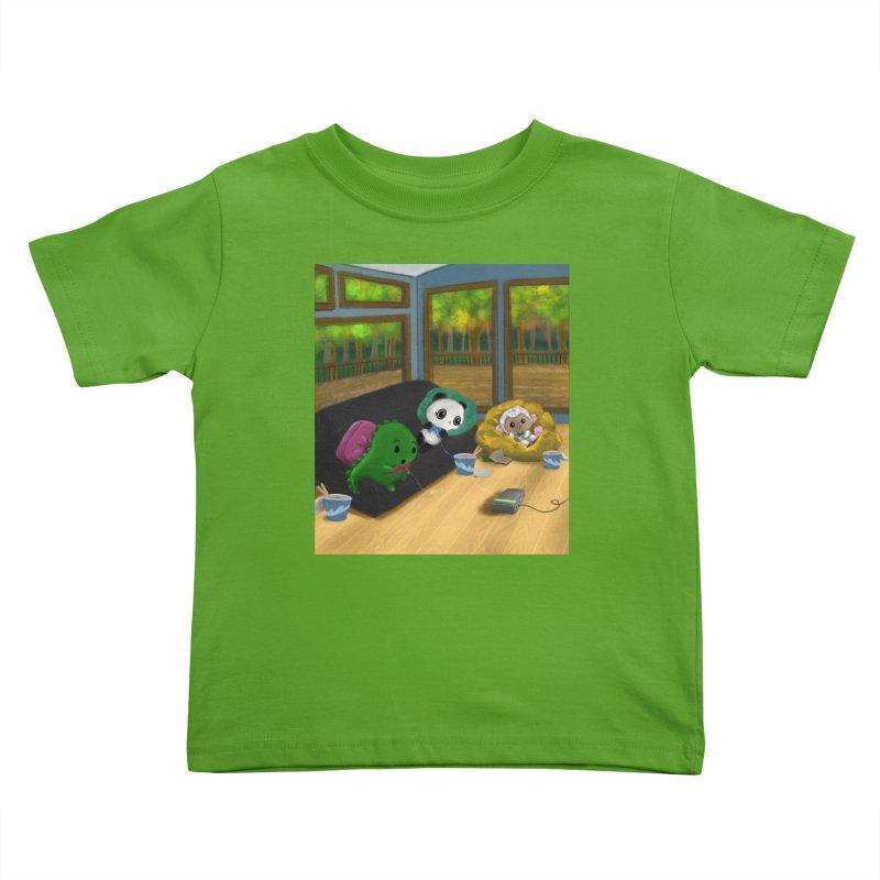 Dino, Panda, and Lambie Gamers Kids Toddler T-Shirt by Dino & Panda Artist Shop