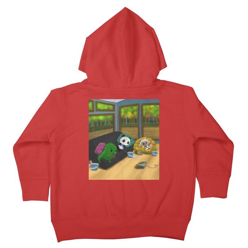Dino, Panda, and Lambie Gamers Kids Toddler Zip-Up Hoody by Dino & Panda Artist Shop