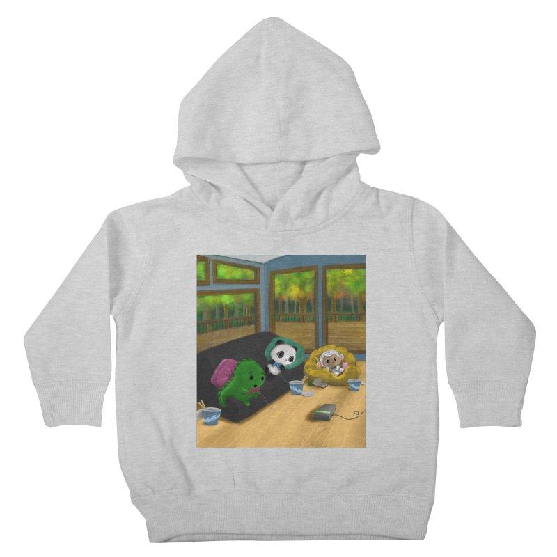 Dino, Panda, and Lambie Gamers Kids Toddler Pullover Hoody by Dino & Panda Artist Shop