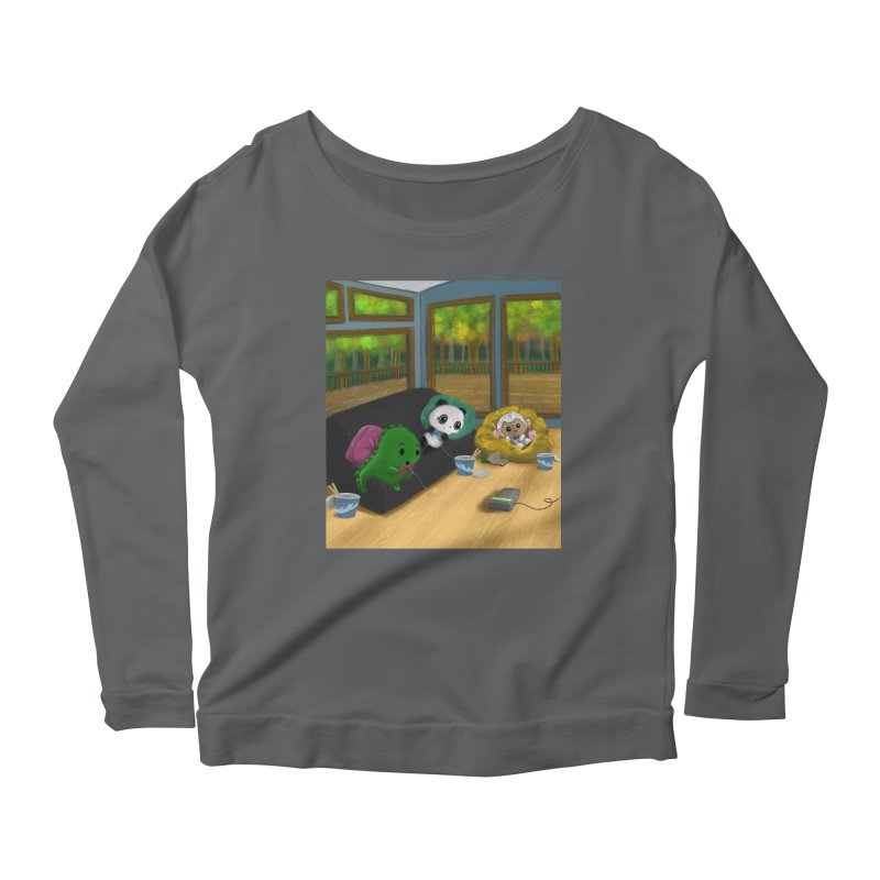 Dino, Panda, and Lambie Gamers Women's Longsleeve T-Shirt by Dino & Panda Artist Shop