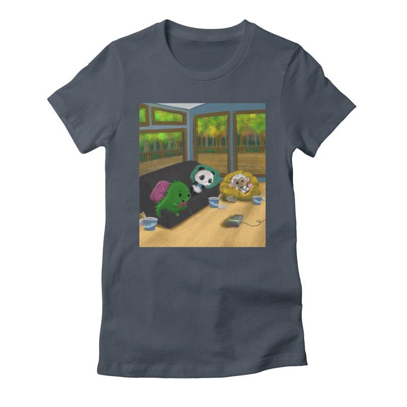 Dino, Panda, and Lambie Gamers Women's T-Shirt by Dino & Panda Artist Shop