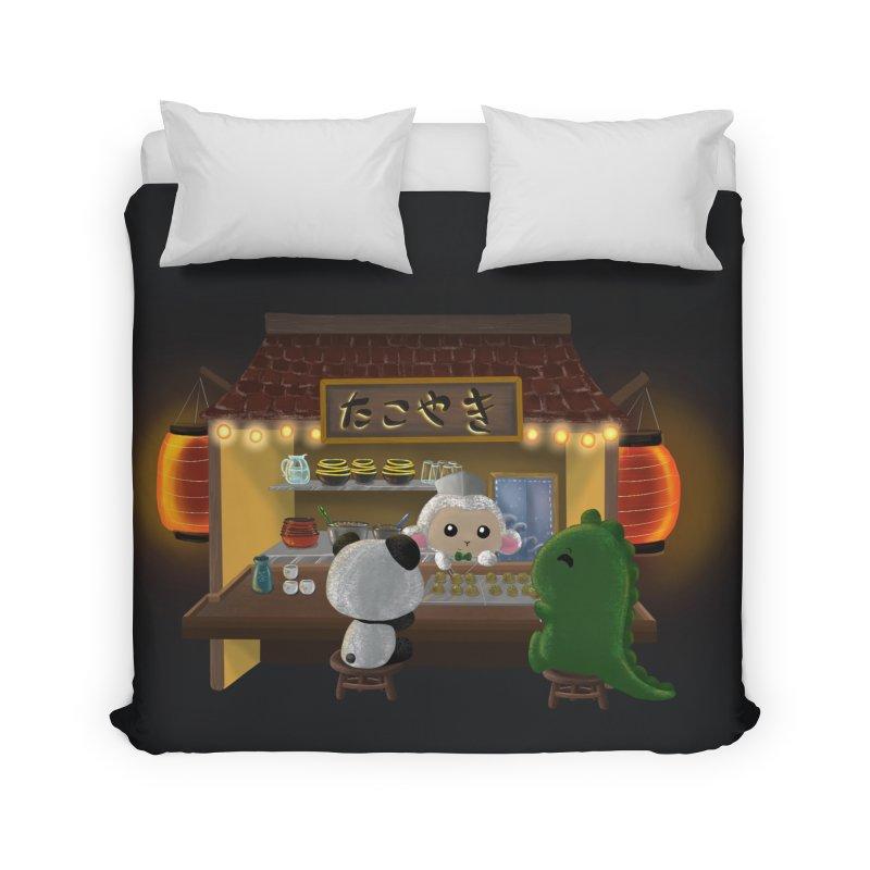Lambie's Takoyaki Stand Home Duvet by Dino & Panda Artist Shop