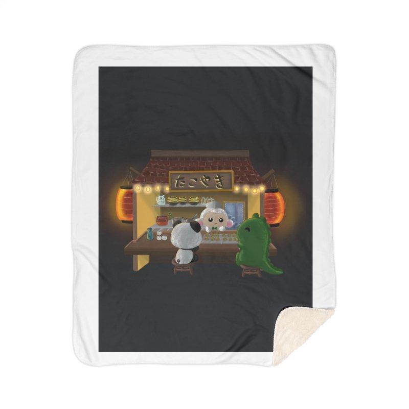 Lambie's Takoyaki Stand Home Blanket by Dino & Panda Artist Shop
