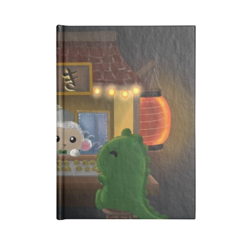 Lambie's Takoyaki Stand Accessories Notebook by Dino & Panda Artist Shop