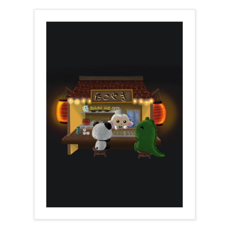 Lambie's Takoyaki Stand Home Fine Art Print by Dino & Panda Artist Shop