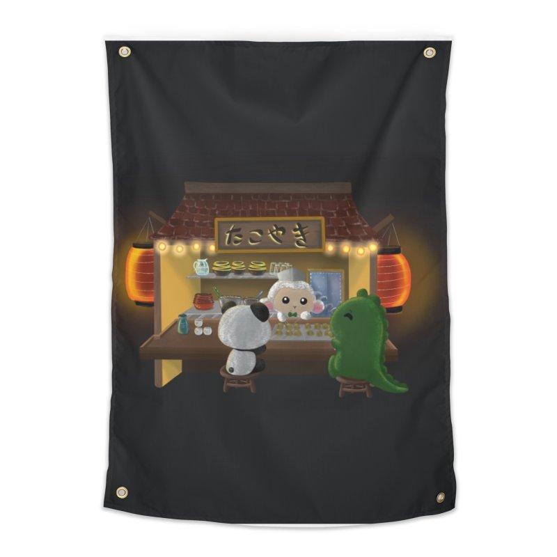 Lambie's Takoyaki Stand Home Tapestry by Dino & Panda Artist Shop