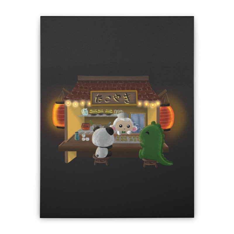 Lambie's Takoyaki Stand Home Stretched Canvas by Dino & Panda Artist Shop