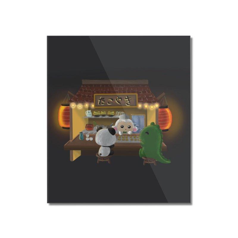 Lambie's Takoyaki Stand Home Mounted Acrylic Print by Dino & Panda Artist Shop