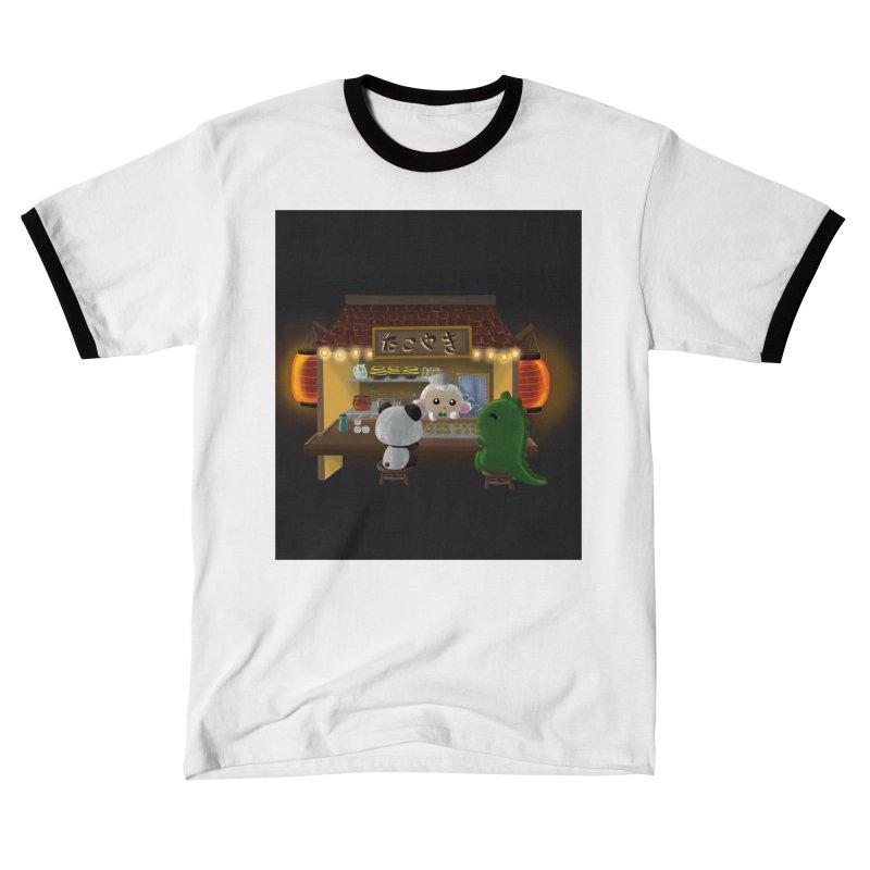 Lambie's Takoyaki Stand Men's T-Shirt by Dino & Panda Artist Shop