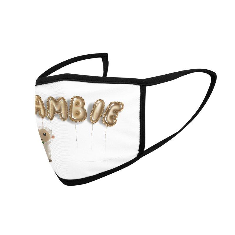 Lambie's Metallic Balloons Accessories Face Mask by Dino & Panda Artist Shop
