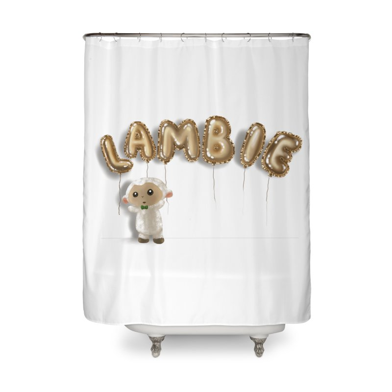 Lambie's Metallic Balloons Home Shower Curtain by Dino & Panda Artist Shop