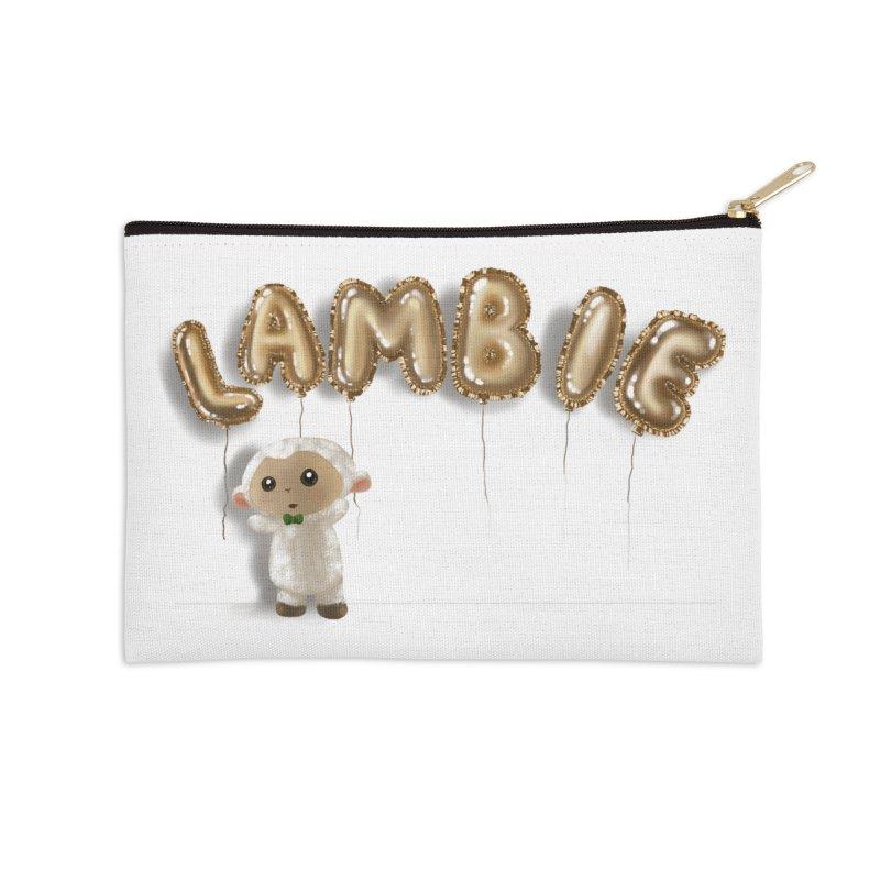 Lambie's Metallic Balloons Accessories Zip Pouch by Dino & Panda Artist Shop