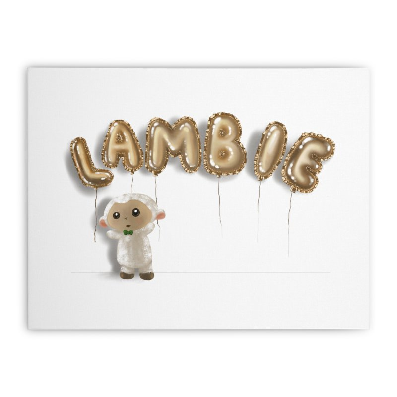Lambie's Metallic Balloons Home Stretched Canvas by Dino & Panda Artist Shop