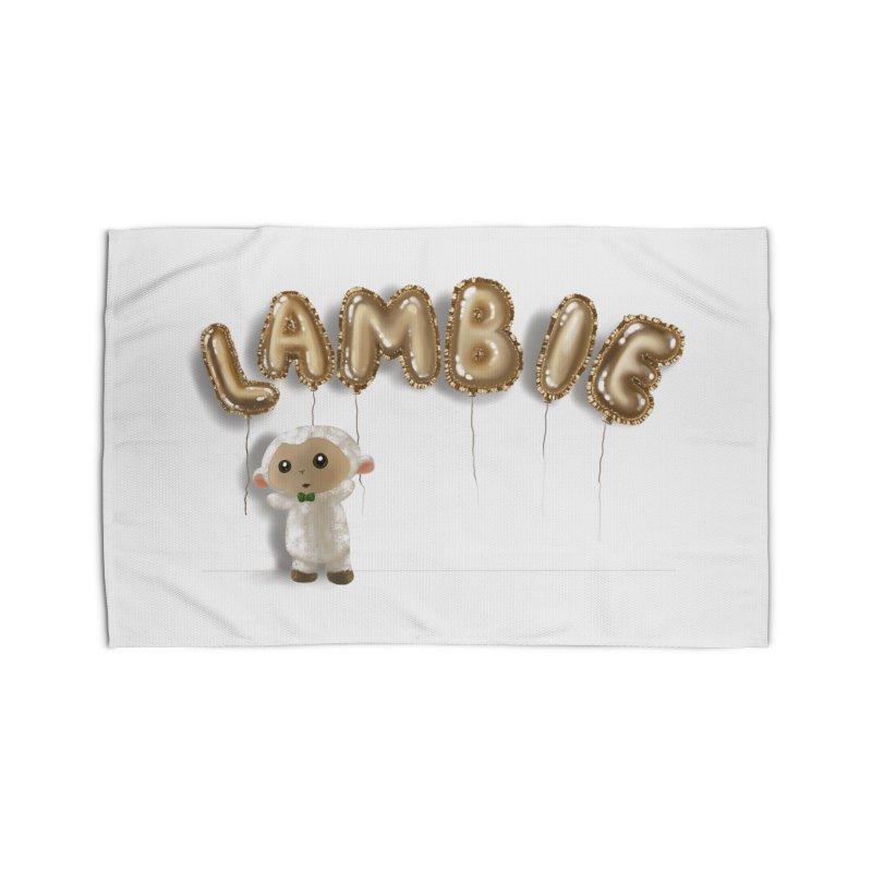 Lambie's Metallic Balloons Home Rug by Dino & Panda Artist Shop