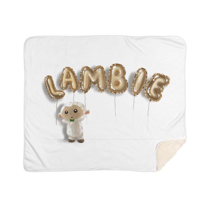 Lambie's Metallic Balloons Home Blanket by Dino & Panda Artist Shop