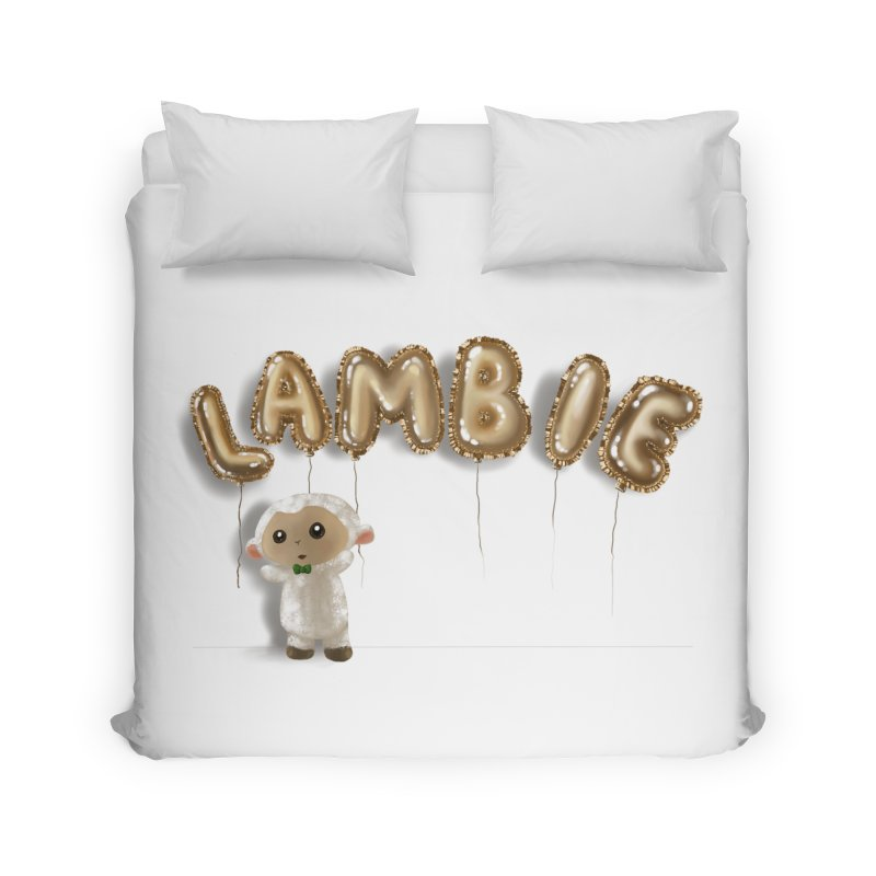 Lambie's Metallic Balloons Home Duvet by Dino & Panda Artist Shop