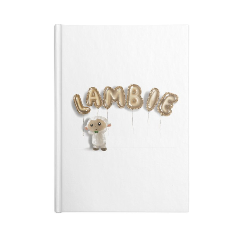 Lambie's Metallic Balloons Accessories Notebook by Dino & Panda Artist Shop