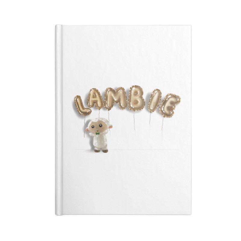 Lambie's Metallic Balloons Accessories Notebook by Dino & Panda Artist Shop