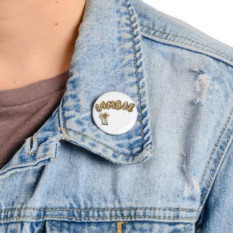Lambie's Metallic Balloons Accessories Button by Dino & Panda Artist Shop