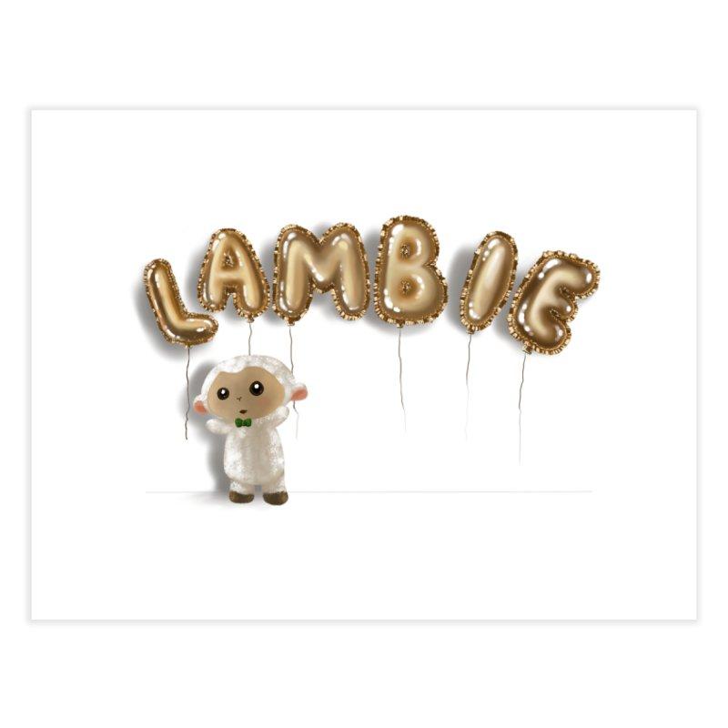 Lambie's Metallic Balloons Home Fine Art Print by Dino & Panda Artist Shop