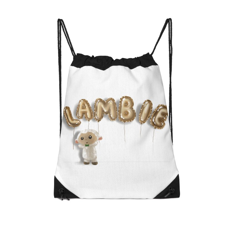 Lambie's Metallic Balloons Accessories Bag by Dino & Panda Artist Shop