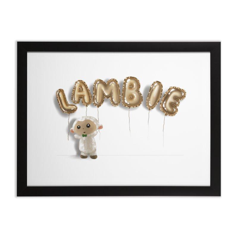 Lambie's Metallic Balloons Home Framed Fine Art Print by Dino & Panda Artist Shop